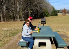 Having Lunch In Rest Area In Arkansas