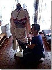 たばね葵の帯結を練習 (2)