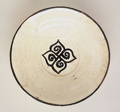 Bowl Iran, Nishapur Bowl, 10th century Ceramic; Vessel, Earthenware, white slip, slip-painted in black, 2 7/8 x 10 in. (7.30 x 25.4 cm) Art Museum Council Fund (M.68.22.2) Art of the Middle East: Islamic Department.