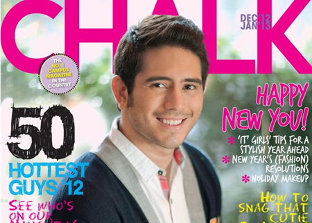 Gerald Anderson on Chalk Dec 2012-Jan 2013 cover