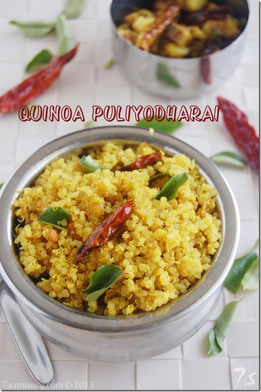 Quinoa puliyodharai