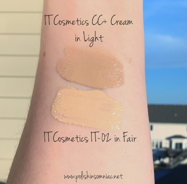 IT Cosmetics CC Cream in Light and IT-02 in Fair