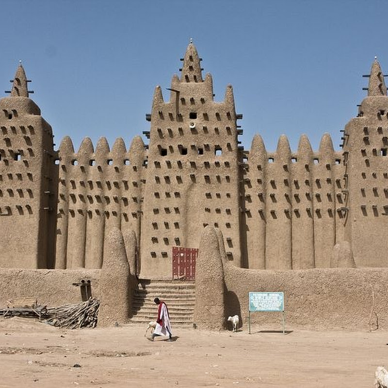 Great Mosque in Djenne, The Largest Mud-Brick Building in The World