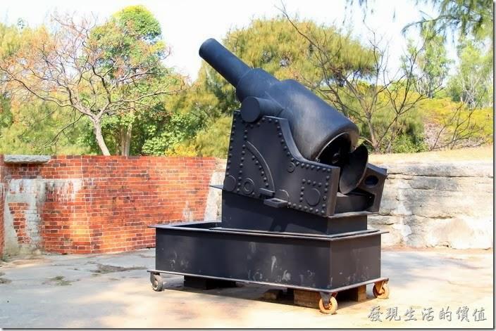 台南-億載金城。這就是用來演藝大砲發射的模型樣品。