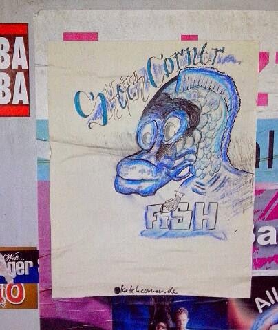 Fish Street Art Plakat Sketch Corner