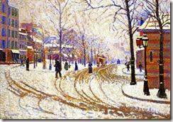 Paul-Signac-Snow-Boulevard-de-Clichy-Paris