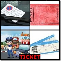 TICKET- 4 Pics 1 Word Answers 3 Letters