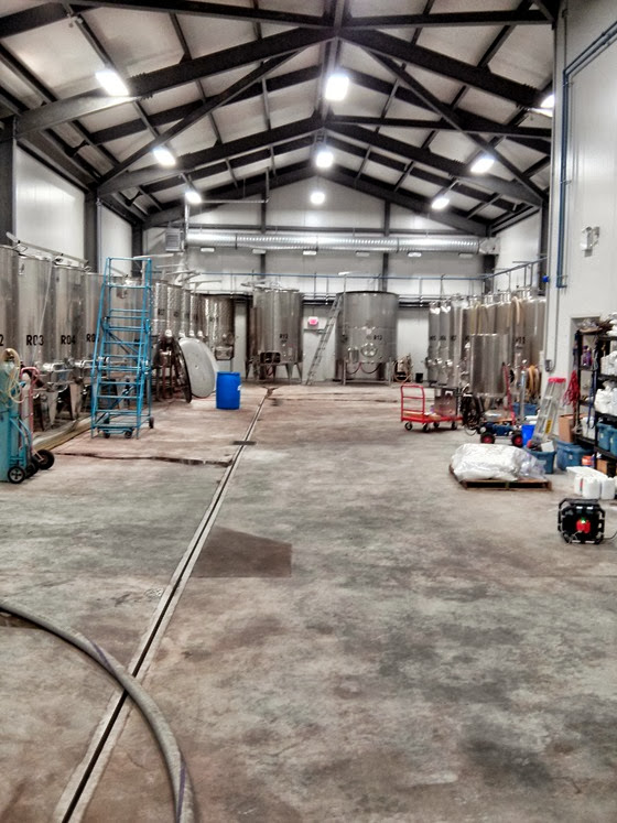 Inside the spacious Poplar Grove winery building