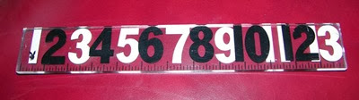 Playboy Lucite acrylic ruler whole