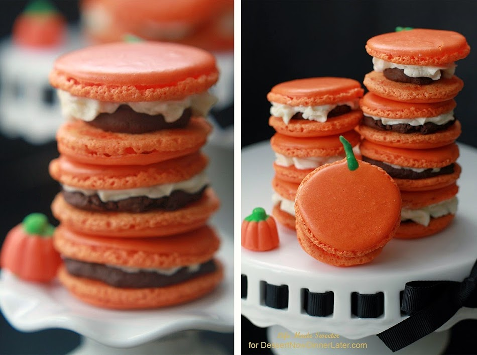Triple Pumpkin Spiced Macarons with Pumpkin Ganache and Buttercream Frosting via @LifeMadeSweeter.jpg
