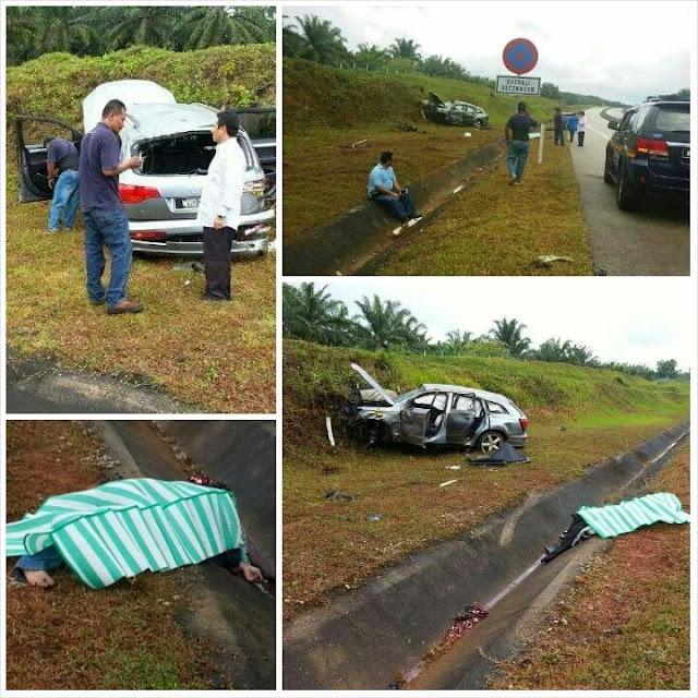 (5 Gambar) Exco Pemuda Kuala Nerus Terbunuh Dalam Nahas di Lebuhraya Pantai Timur