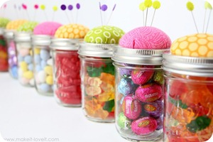 pincushion jars