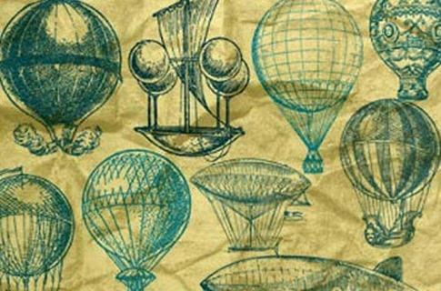 Pinceles de globos retro