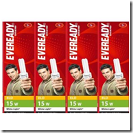 Buy Eveready CFL 15W ELD – Combo ( Pack of 4) at Rs.369 only