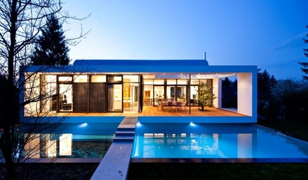 Casa c1 dise o minimalista dettling architekten for Diseno exterior casa contemporanea