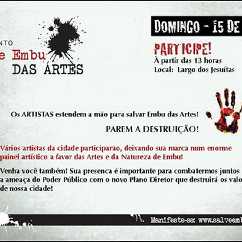 PAREM A DESTRUIÇÃO! OS ARTISTAS ESTENDEM A MÃO PARA SALVAR EMBU DAS ARTES!