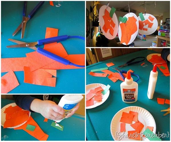 small paper plate pumpkins
