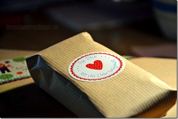 11 von 12 September - Geburtstagspäckchen gepackt