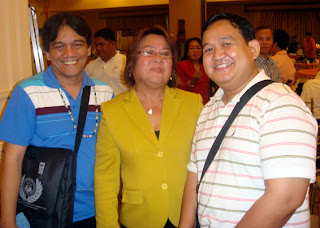 Sir Jojo, Human Rights Commissioner Leila De Lima and Sir Ervin