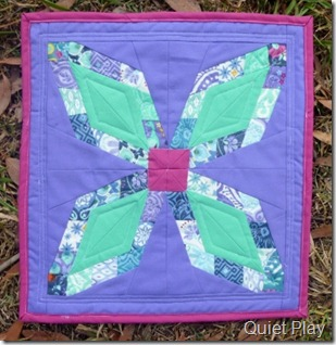 Too Pretty for Pickles mini quilt