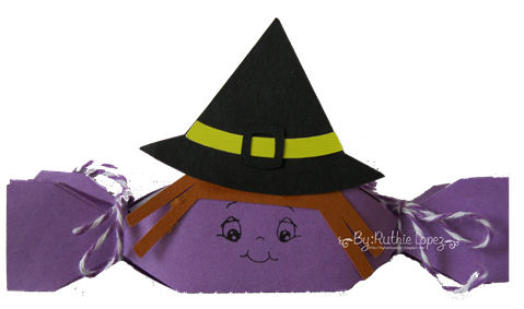 Witch treat box - Halloween Treat box - Sister´s Scrapbook Store - Ruthie Lopez DT