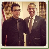 Obama zachary quinto  star trek heroes_Instagram_Five_a