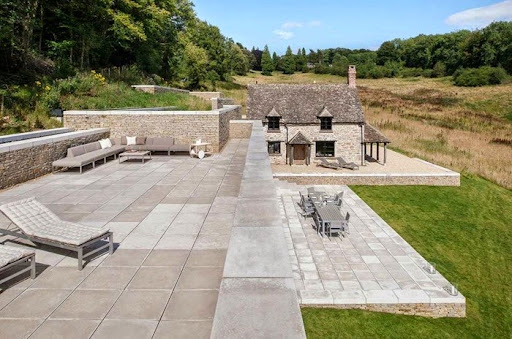 Roof Terrace With Concrete Paving Slabs. Photo Gallery