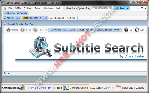 Download dan Cari Subtitle Film dengan Software Subtitle Search