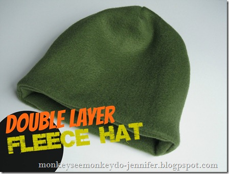 Monkey See, Monkey Do!: Easy Double Layer Fleece Hat Tutorial