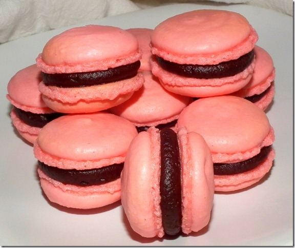 Almond Macarons with Chocolate Ganache 11-23-11