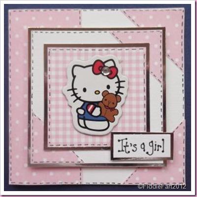 Hello Kitty baby Card