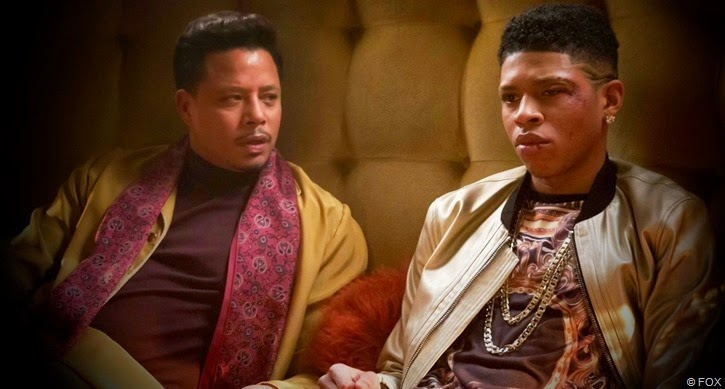Terrence Howard  and Bryshere Gray as Lucious and Hakeem Lyon on EMPIRE