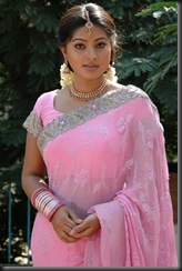 Sneha in rose colour saree