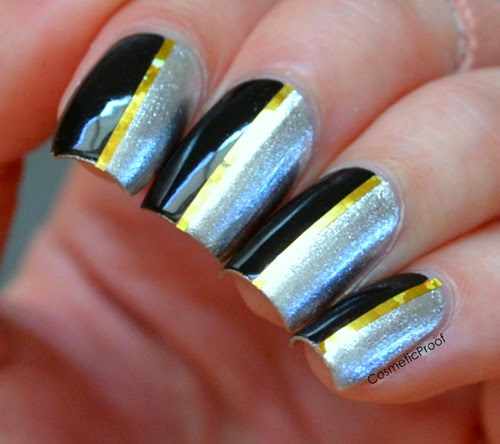 opi my signature is DC tape manicure