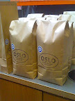 After being roasted, the beans are bagged, stamped, and ready to head to the Oslo shop start flying off shelves.