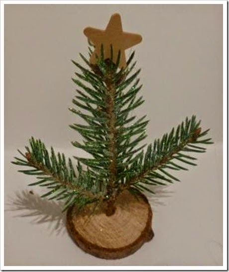 Mini Christmas Tree Place setting using real fir branches