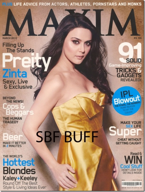 Preity Zinta Maxim