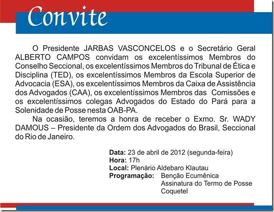 Convite posse JV.