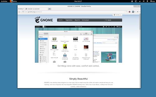 Mozilla Firefox in Gnome Shell
