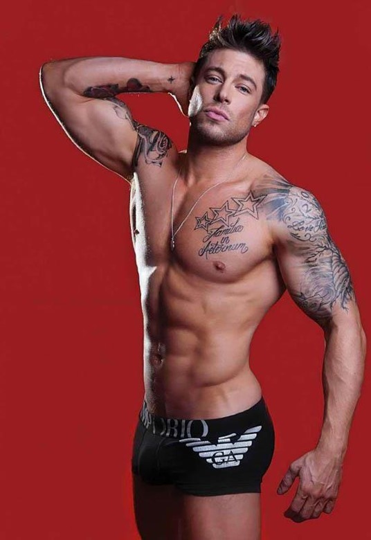 Duncan James of Blue for Giorgio Armani