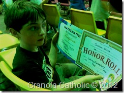 Joshua awards 2nd grade