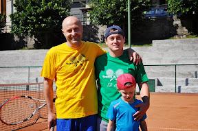 Tre generazioni  Aramini in campo