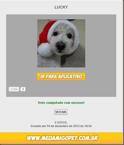 pagina Lucky pra votar