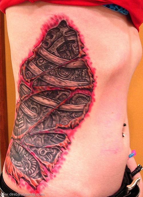 tatuagens ilusoes de otica optica ilusion tatoo desbaratinando  (19)
