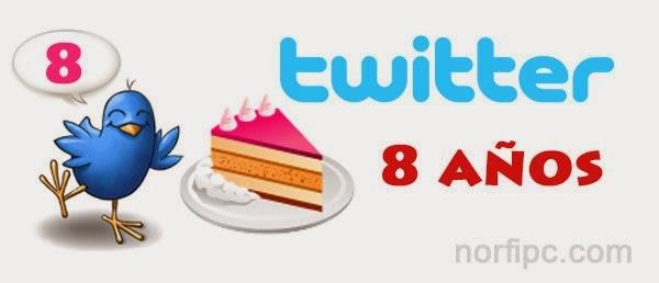 Fiesta de los 8 años de Twitter