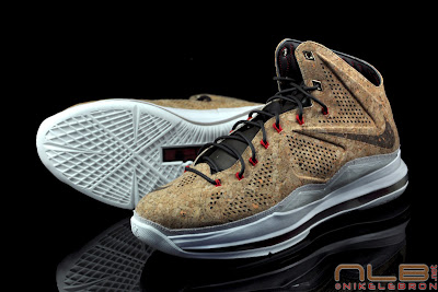 lebron10 nsw cork 28 web black The Showcase: NIKE LEBRON X Cork World Champions Shoes