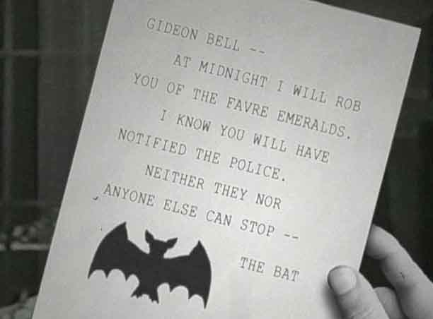 a note from the bat