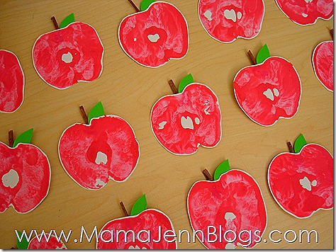 Apples for Apple Print Wreath
