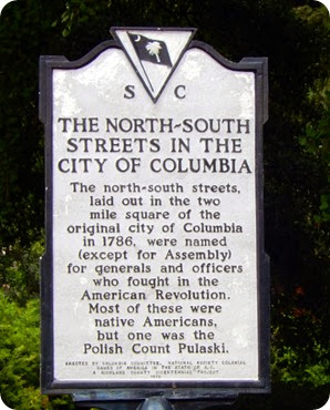 Columbia street signs
