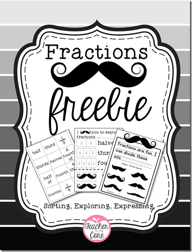 Teacher to the Core freebie on fractions